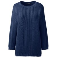 3-quarter Shaker Crew Neck Jumper, Blue