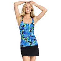 Beach Living Squareneck Tankini Top Deco Floral Black