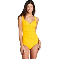 Beach Living Wrap Tankini Top, Women, Size: 10 Regular, Yellow, Nylon-blend, by Lands' End
