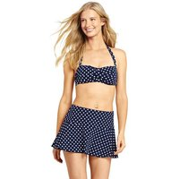 Beach Living Polka Dot Bandeau Bikini Top Blue