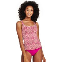 Beach Living Majolica Tile Print Tankini Top Pink