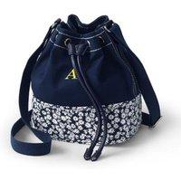 Drawstring Bucket Bag, Blue