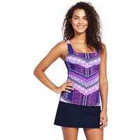 Beach Living Squareneck Chevron Stripe Tankini Top Blue