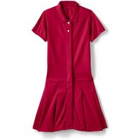 Little Adaptive Mesh Polo Dress, Kids, Size: 4-5 yrs Little Girl, Red, Cotton, by Lands' End