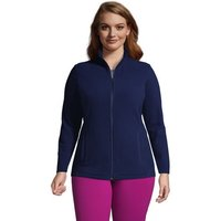 Fleece Jacket, Women, Size: 24-26 Plus, Blue, Polyester, by Lands' End