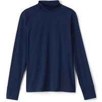 Stretch Thermaskin Polo Neck Thermal Top, Men, Size: 50-52 Regular, Blue, Poly-blend, by Lands' End.