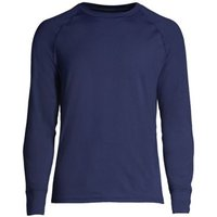 Stretch Thermaskin Crew Neck Thermal Top, Men, Size: 50-52 Regular, Blue, Spandex, by Lands' End.