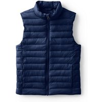Packable Thermoplume Gilet, Kids, Size: 10-11 years Kid, Blue, Nylon, by Lands'End, Deep Sea Navy