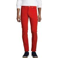 Slim Fit Washed Cord Jeans, Men, Size: 40 Regular, Orange, Cotton, by Lands' End