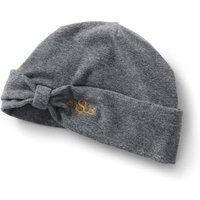 Fleece Bow Beanie Hat, Grey