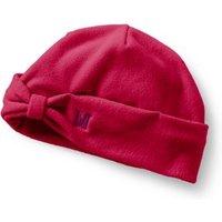 Fleece Bow Beanie Hat, Red