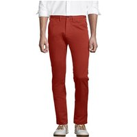 Everyday Stretch Chinos, Slim Fit, Men, Size: 33 Regular, Red, Spandex, by Lands'End, Sunwashed Red
