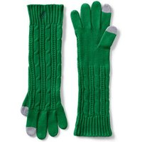 Long Cable Knit Gloves, Green