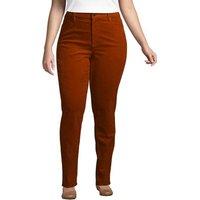 Mid Rise Corduroy Jeans, Women, Size: 22/28 Plus, Tan, Cotton-blend, by Lands' End