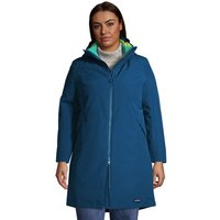 Squall 3-in-1 Waterproof Coat, Women, Size: 20-22 Plus, Blue, Polyester, by Lands' End