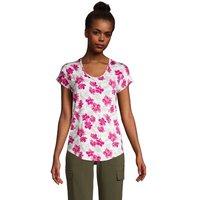 Lightweight Jersey T-shirt, Women, Size: 10-12 Regular, White, Rayon-blend, by Lands' End