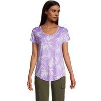 Lightweight Jersey T-shirt, Women, Size: 14-16 Regular, Purple, Rayon-blend, by Lands' End