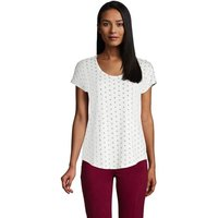 Lightweight Jersey T-shirt, Women, Size: 16-18 Regular, Ivory, Rayon-blend, by Lands'End, Ivory Geo