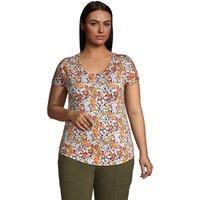 Lightweight Jersey T-shirt, Women, Size: 20-22 Plus, Blue, Rayon-blend, by Lands' End