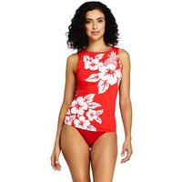 Beach Living Print High Neck Tankini Top Red