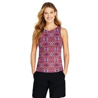 Beach Living High Neck Tankini Top, Women, Size: 18 Regular, Black, Nylon-blend, by Lands' End