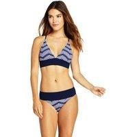 Lace-back Bikini Top, Women, Size: 20 - 22 Regular, Blue, Nylon-blend, by Lands' End