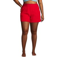 Board Shorts - with Swim Briefs, Women, Size: 28 Plus, Red, Nylon-blend, by Lands' End