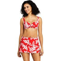 Beach Living Print Twist Front Bikini Top Red