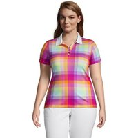 Short Sleeve Supima Polo Shirt, Women, Size: 24-26 Plus, Purple, Cotton, by Lands' End