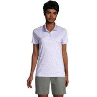 Short Sleeve Supima Polo Shirt, Women, Size: 8 Regular, Purple, Cotton, by Lands' End