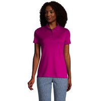 Short Sleeve Supima Polo Shirt, Women, Size: 10-12 Regular, Purple, Cotton, by Lands' End