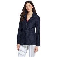 Utility Jacket, Women, Size: 16-18 Regular, Blue, Cotton, by Lands' End