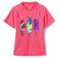 Sequin Rash Vest, Kids, Size: 10-12 yrs Girl, Spandex, by Lands' End