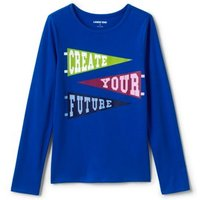 Long Sleeve Graphic T-shirt, Kids, Size: 10-12 yrs Girl, Cotton, by Lands' End