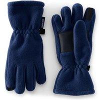 Fleece Gloves, Kids, Size: S Boy, Blue, Polyester, by Lands' End
