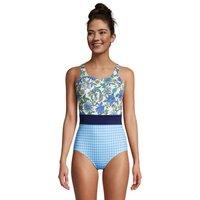Chlorine Resistant Tugless Swimsuit, Women, Size: 12 Regular, Multi, Nylon-blend, by Lands' End