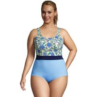 Chlorine Resistant Tugless Swimsuit, Women, Size: 22 Plus, Multi, Nylon-blend, by Lands' End