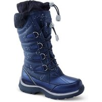 Snowflake Winter Boots, Kids, Size: 2 Girl, Blue, Rubber, by Lands' End.