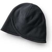 Fleece Beanie Hat, Women, Size: S-M Black, Polyester, by Lands' End
