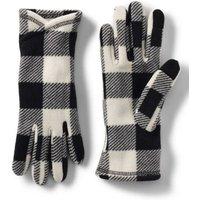 Touchscreen Fleece Gloves, Women, Size: S Black, Polyester, by Lands' End