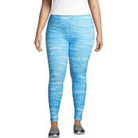 Active Seamless Leggings, Women, Size: 24-26 Plus, Blue, Poly-blend, by Lands' End
