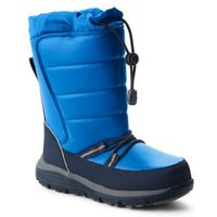 Snow Flurry Boots, Kids, Size: 11 Boy, Blue, Polyester, by Lands' End
