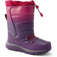 Snow Flurry Boots, Kids, Size: 9 Boy, Purple, Polyester, by Lands'End, Winter Violet Ombre