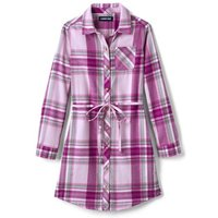 Flannel Dress, Kids, Size: 8-9 yrs Girl, Pink, Cotton, by Lands' End