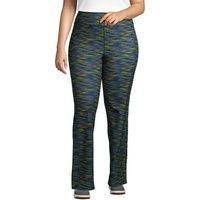 Active Yoga Pants, Women, Size: 24-26 Plus, Blue, Poly-blend, by Lands' End
