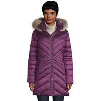 ThermoPlume Fleece Lined Coat, Women, Size: 16-18 Regular, Purple, Polyester, by Lands' End