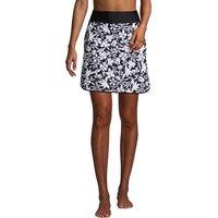 Quick Dry Active Skort Swim Skirt, Women, Size: 18 Regular, Black, Nylon-blend, by Lands' End