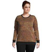 Serious Sweats Sweatshirt Tunic, Women, Size: 24-26 Plus, Brown, Cotton-blend, by Lands' End