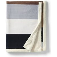 Sherpa Fleece Throw Blanket, Ivory, Polyester, by Lands' End