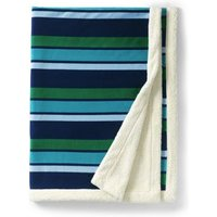Sherpa Fleece Throw Blanket, Blue, Polyester, by Lands' End